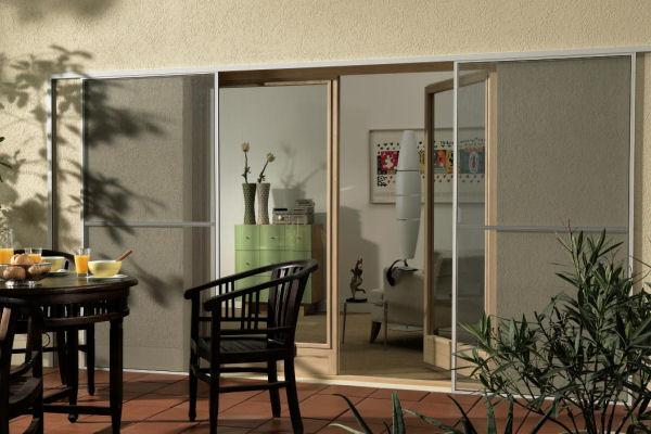Als Insektenschutz Für Balkon Und Terrasse Sind Schiebetüren Ideal Schiebeturen Fur Die Terrasse